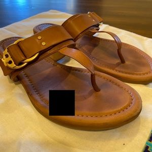 Tory Burch Shoes - Tory Burch Marsden flat thong sandal calf leather